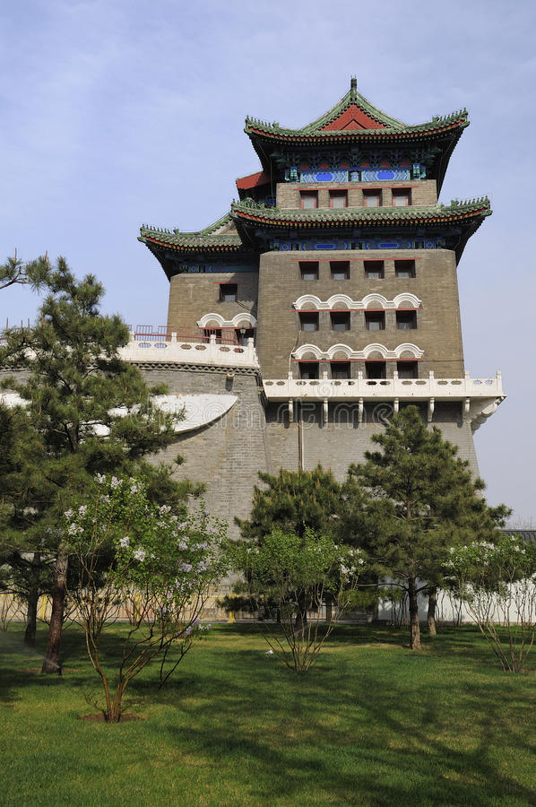 Beijing Qianmen gate tower. Ancient architecture in the modern city is Beijing cityscape.QianmenFront is Beijing's most famous gate tower royalty free stock photography