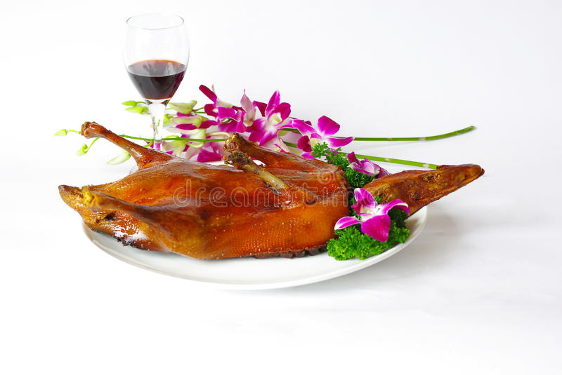 Beijing roast duck. In chinese restaurant stock photography