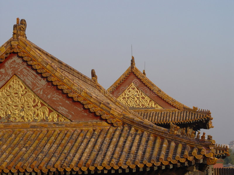 Beijing Rooftops royalty free stock images