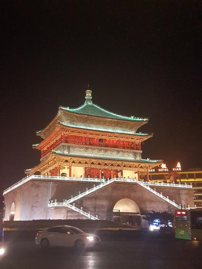 Beijing`s Bell Tower stock photography