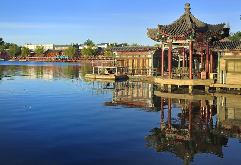 Beijing Shichahai湖,北京旅行 库存图片