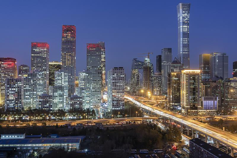 Beijing Skyline fotografie stock libere da diritti