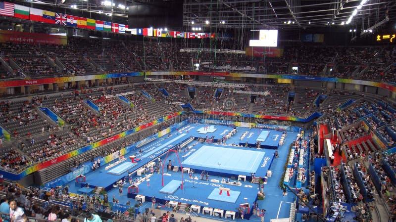 beijing spelar gymnastikmän paralympic s royaltyfria foton