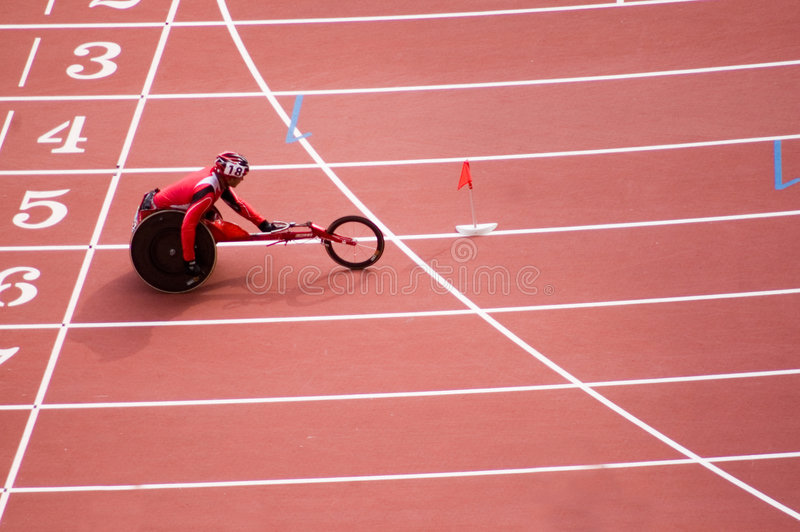 beijing spelar maratonmän paralympic s royaltyfria foton