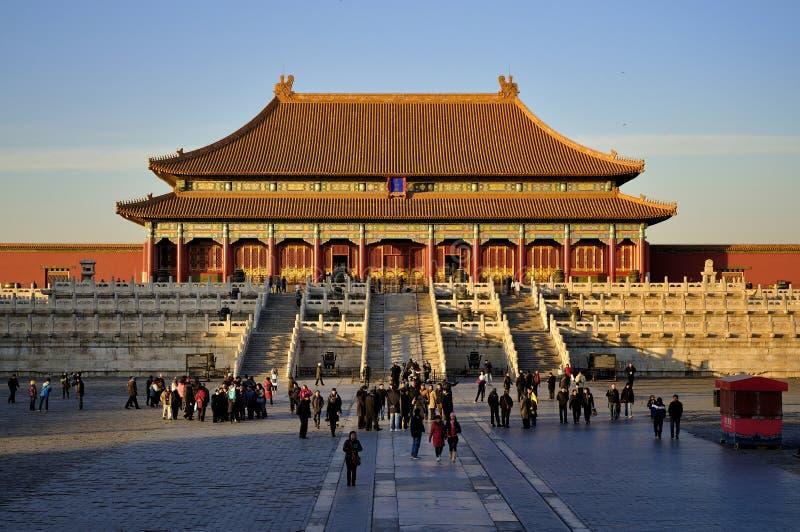 beijing stad förbjuden slott royaltyfri foto