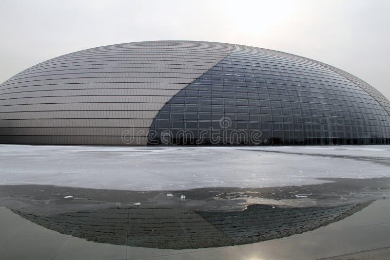beijing storslagen nationell theatre arkivbilder