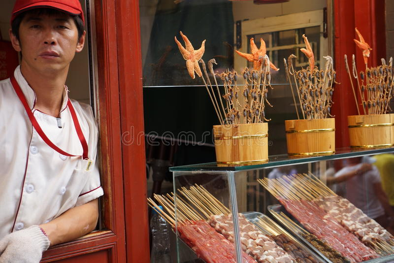 Beijing street market. Donghuamen Snack Night Market Donghuamen Snack Night MarketBy following the wafting aroma of cooking, tourists can find the most natural stock images