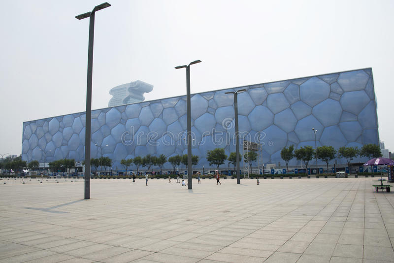 The 2008 Beijing Summer Olympic Stadium, the national swimming center,. Chinese Asia, Beijing, the National Swimming Center, the Olympic Games in 2008 one of the stock photos