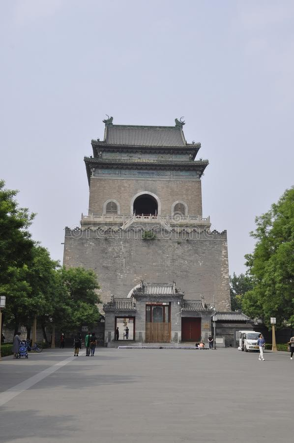 Beijing, 6th may: Bell Tower building from Beijing royalty free stock image