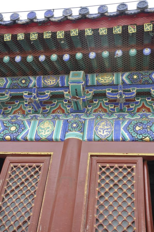 Beijing, 7th may: Fasting Palace roof decoration from Temple of Heaven site in Beijing royalty free stock images