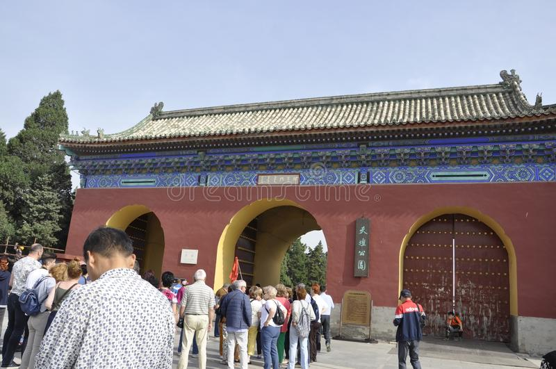 Beijing, 7th may: The South Gate to the Temple of Heaven in Beijing royalty free stock photos