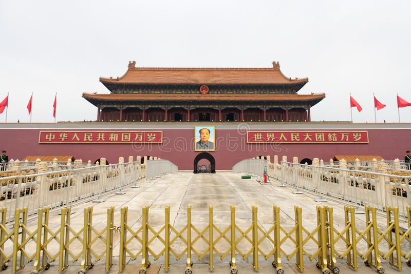 Beijing tiananmen square in China stock photos