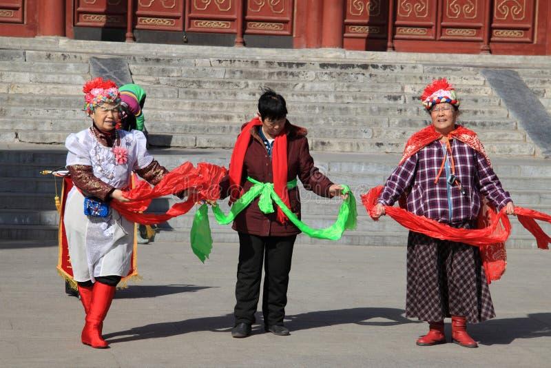 Beijing traditional yangko stock photo