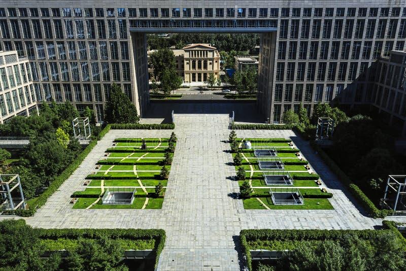 Beijing University of Aeronautics and Astronautics new building. Overlooking royalty free stock photos
