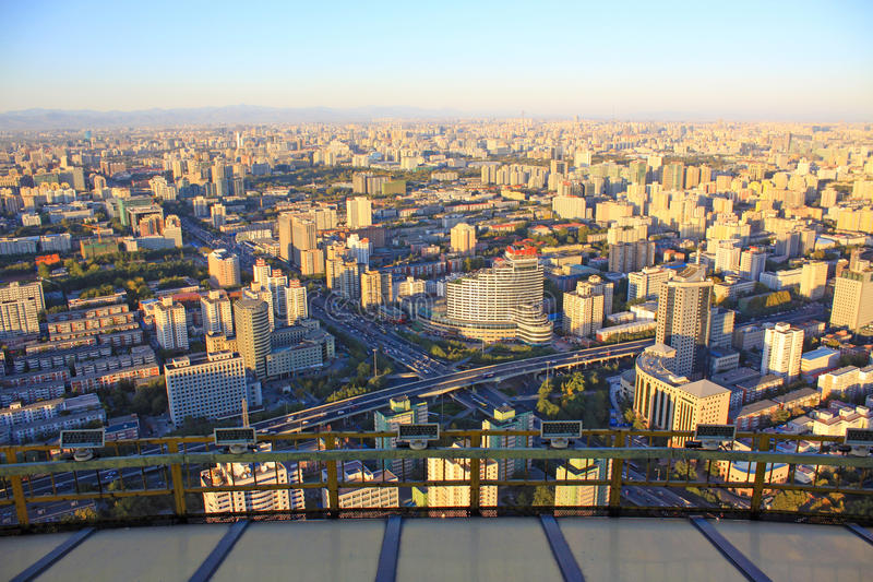 Beijing urban landscape stock photo