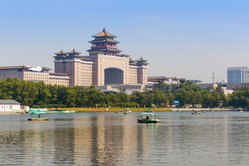 Beijing west railway station stock image