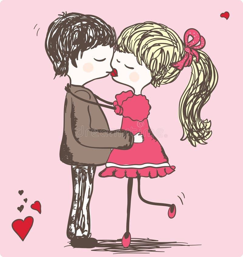 Beijo ilustração do vetor