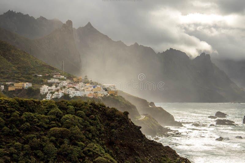 Beijo beach. Compozition on beijo beach north- side of Tenerife island stock photos