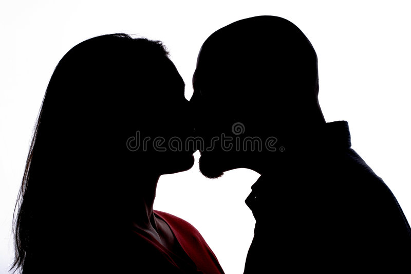 Beijo da sombra ilustração stock