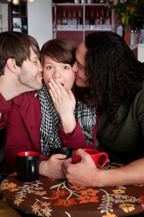 Beijo da surpresa imagens de stock