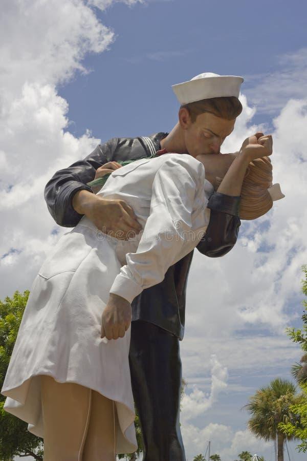 Beijo de WWII em Bradenton, Florida fotografia de stock royalty free