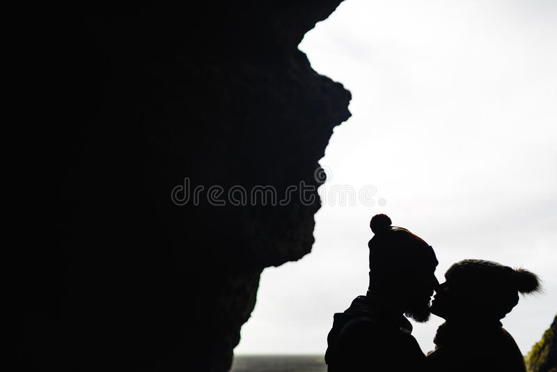 Beijo dos amantes imagens de stock royalty free