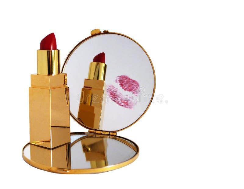 Beijo no espelho imagem de stock royalty free