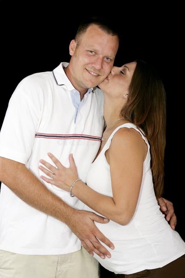 Beijo para o marido imagem de stock