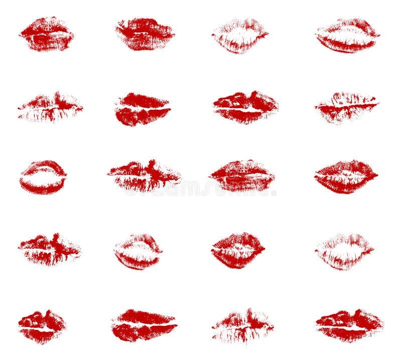Beijos ilustração stock