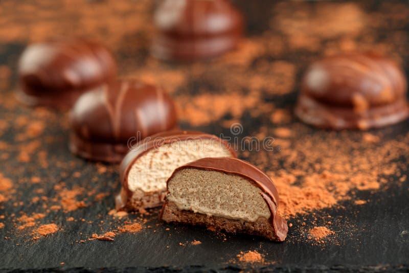 Beijos de chocolate imagens de stock