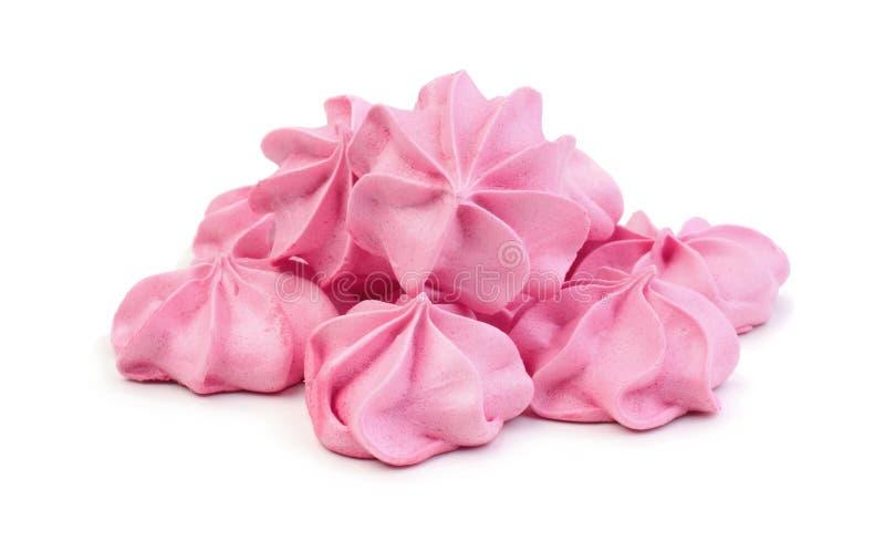 Beijos de merengue isolados imagens de stock