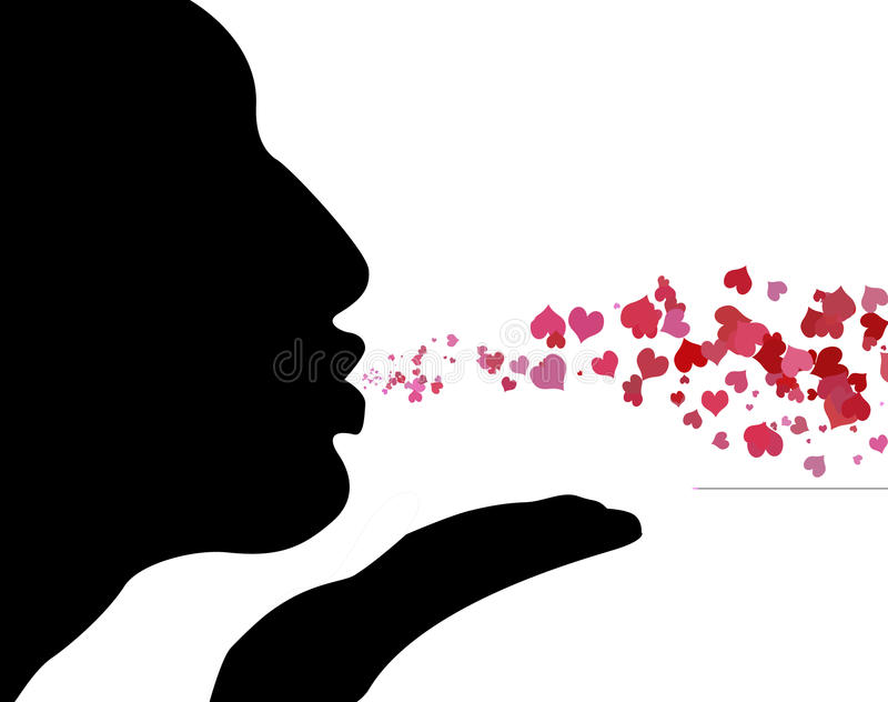 Beijos de sopro ilustração stock