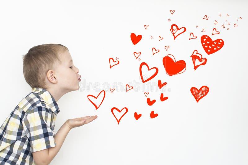 Beijos do coração imagens de stock royalty free