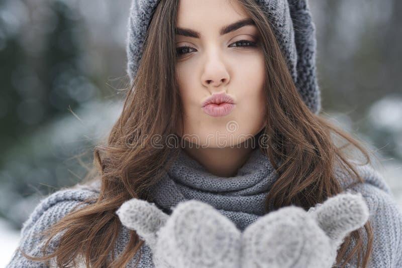 Beijos para você imagem de stock