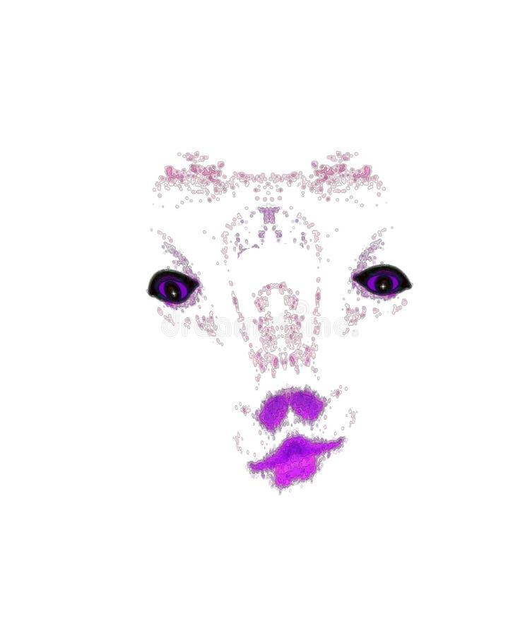 Beijos roxos do girafa ilustração stock