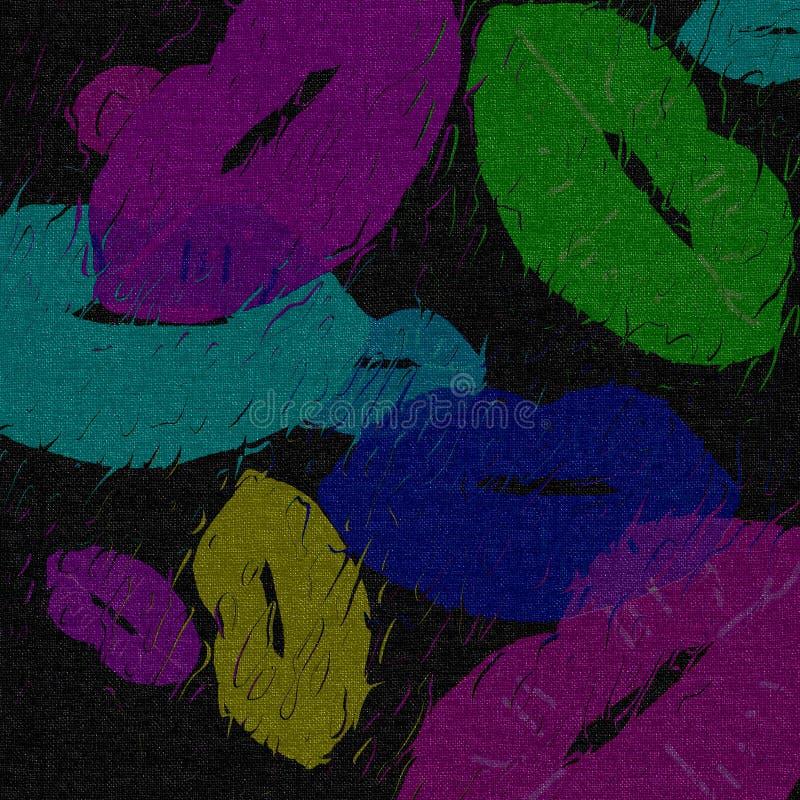 Beijos suculentos, imagem de fundo abstrata colorida e textura da tela imagens de stock royalty free