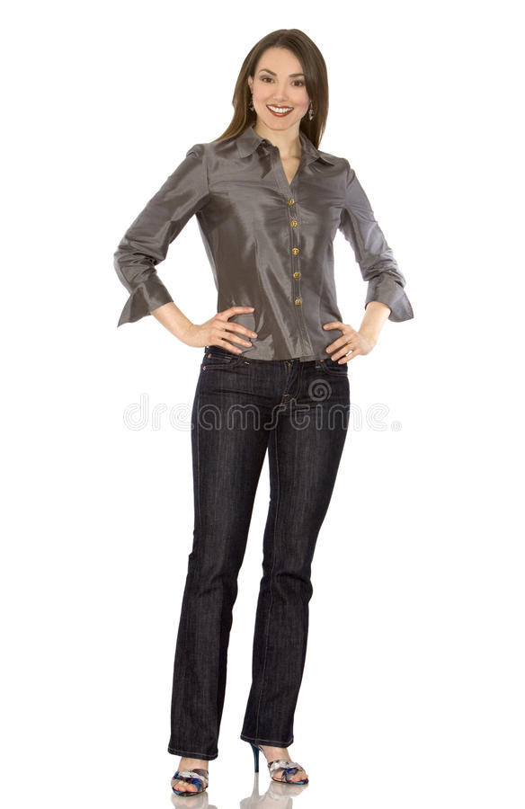 Beiläufige Frau lizenzfreies stockfoto
