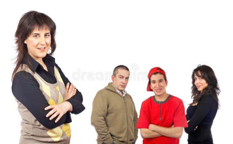 Beiläufige Leutegruppe stockfoto