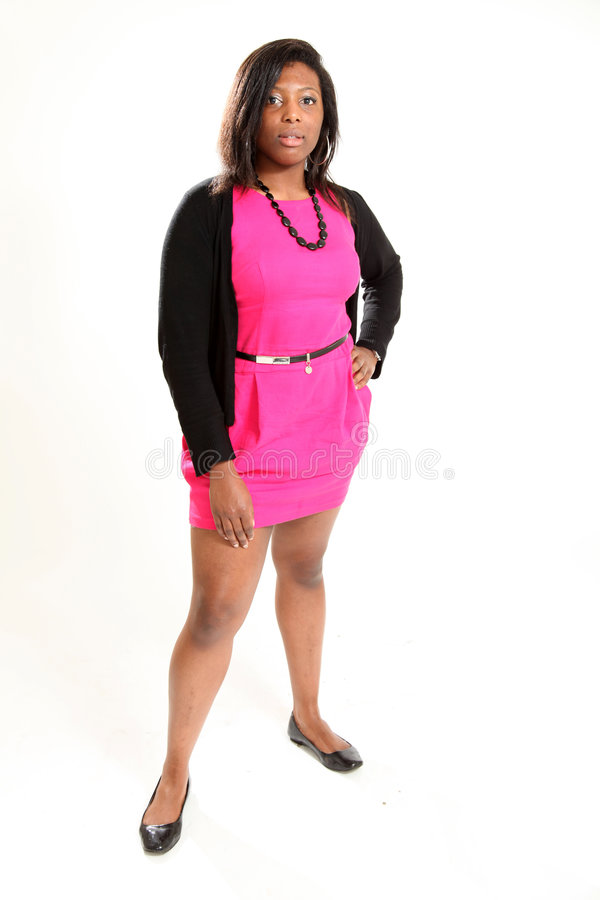 Beiläufige schwarze Frau lizenzfreies stockbild