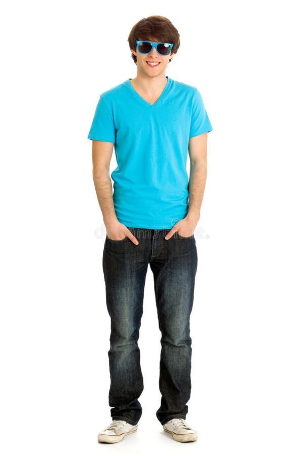 Beiläufiger junger Mann stockbild