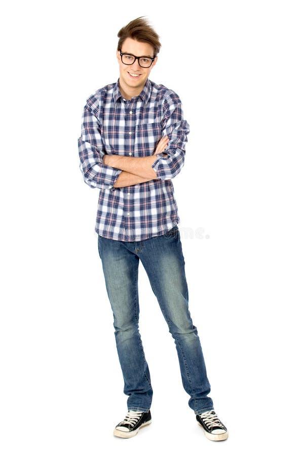 Beiläufiger junger Mann stockfoto
