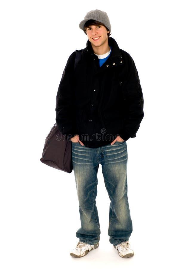 Beiläufiger kühler junger Kerl lizenzfreie stockfotos