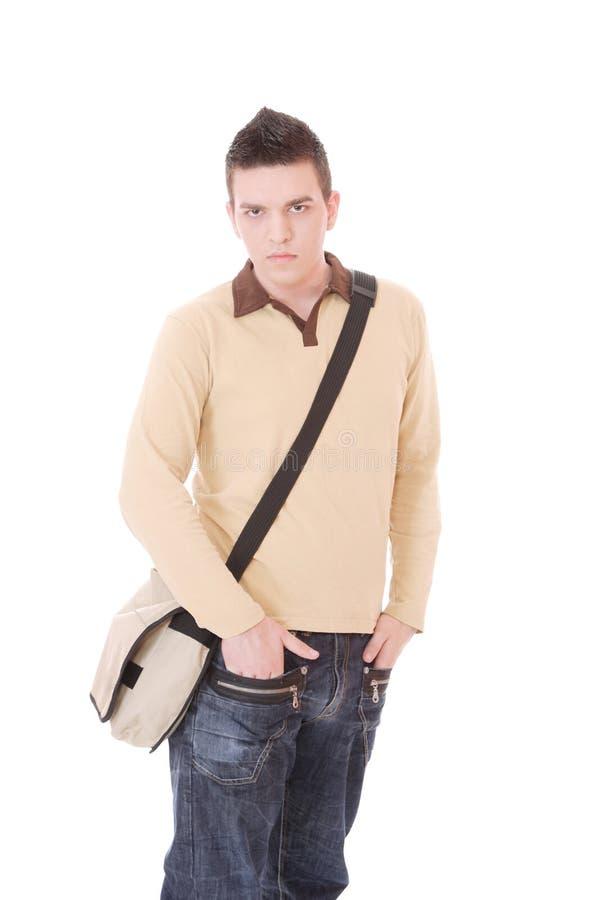 Beiläufiger Kerl getrennt über weißem Hintergrund lizenzfreie stockfotografie