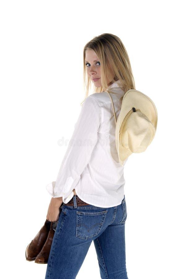 Beiläufiges Cowgirl stockfotografie