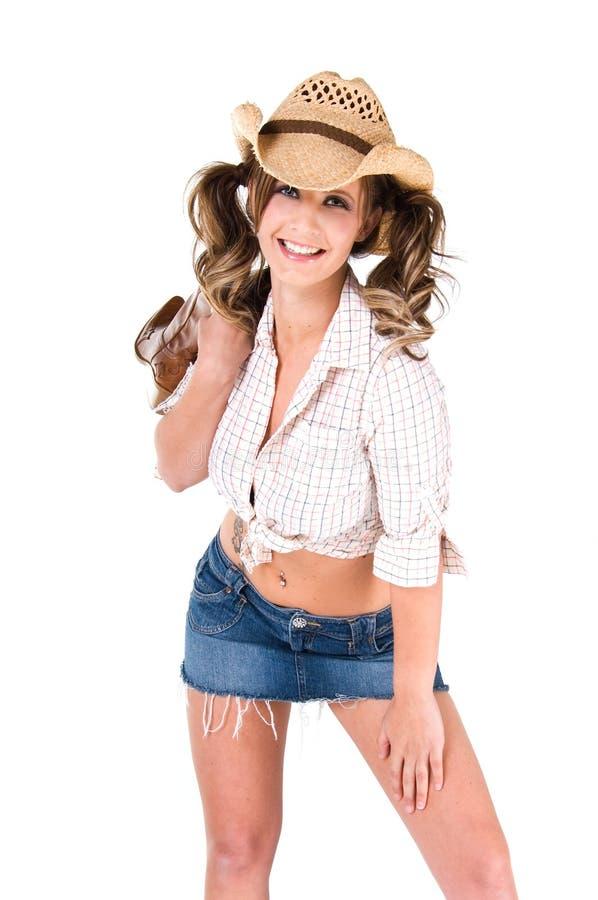 Beiläufiges Cowgirl lizenzfreies stockfoto