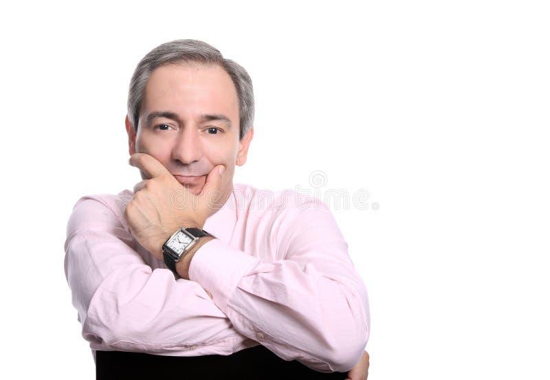Beiläufiges Geschäftsmanmannportrait stockfoto