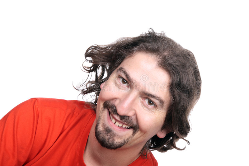 Beiläufiges glückliches Mannportrait stockbild