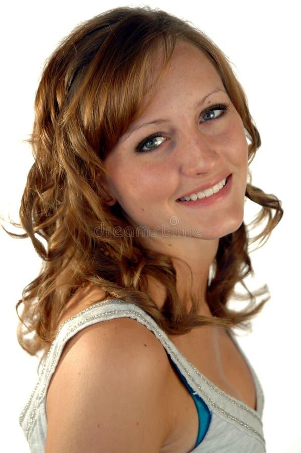 Beiläufiges Lächeln jugendlich stockfotografie