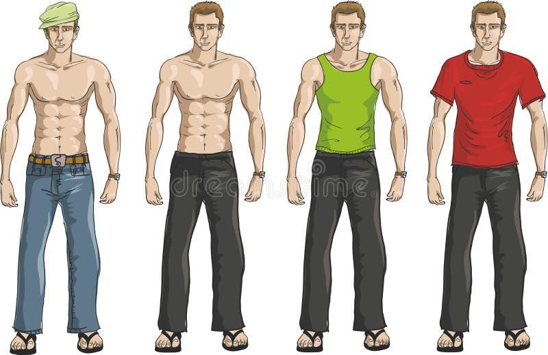 Beiläufiges Mannkleidset lizenzfreie abbildung