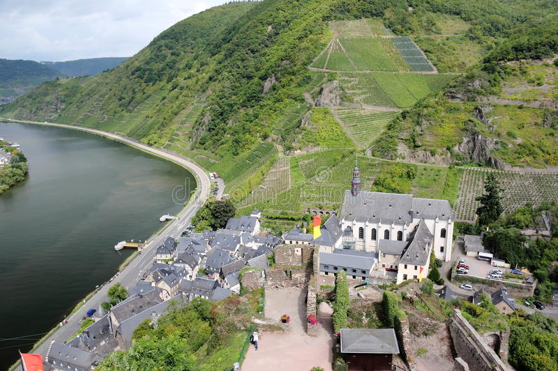 Beilstein ... the best place on the Moselle River (Mosel). Beilstein (Germany) is a tiny town sitting along the peaceful Moselle River (a.k.a. Mosel River in stock photography